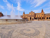 セビリア、スペインのプラザ デ エスパーニャ — ストック写真
