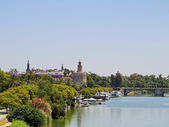 Guadalquivir River in Seville — 图库照片