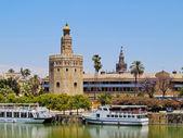 Torre del oro en sevilla, españa — Foto de Stock