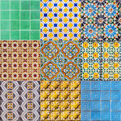 Set of Portuguese Tiles — Stock Photo
