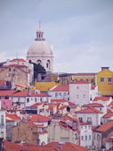 Alfama Skyline in Lisbon — Stock Photo