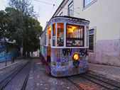 Funicular in Lisbon — Stock Photo