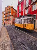 Old Tram in Lisbon — Stock Photo