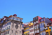 Wall of the Ribeira Shelters in Porto — Stock Photo