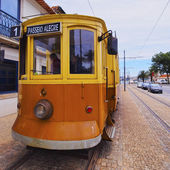 Staré tramvaje v porto — Stock fotografie