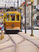 Old Tram in Porto — Foto de Stock