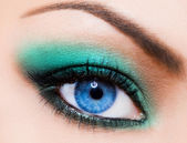 Close-up of beautiful womanish eye — Stock Photo