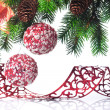 Christmas decoration on a fir-tree — Stock Photo #1403843