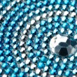 Blue and silver texture with crystals — Stock Photo