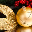 Stock Photo: Christmas decoration with europeholly
