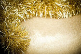 Festive garland on sparkles background — Stock Photo