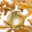 Branch of Christmas tree with festive decoration ball - Foto de Stock  