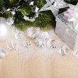 Christmas decoration with gift box — Stock Photo #17138883