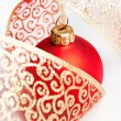 Christmas decoration balls with ribbon — Stock Photo #17139161
