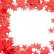 Many stars on white background - Stock Photo