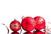 Vánoční dekorace izolovaných na bílém pozadí — Stock fotografie