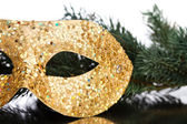 Christmas mask with green fir-tree — Стоковое фото