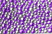 Violet and silver texture with crystals — Stock Photo