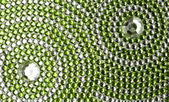 Green and silver texture with crystals — Stock Photo