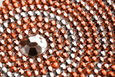 Textura laranja e prata com cristais — Foto Stock