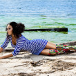 Girl on a beach in the summer — Stock Photo #28608983