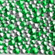 Green and silver texture with crystals  — Foto Stock