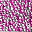 Stock Photo: Pink and silver texture with crystals