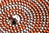 Orange and silver texture with crystals — Stock Photo