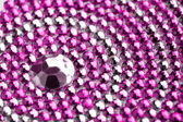 Pink and silver texture with crystals — Stock Photo