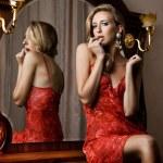 Beautiful fashionable woman in interior — Stock Photo #7733042