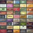 Set colorful Business cards — Image vectorielle