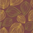 Seamless pattern with colored autumn leaves . EPS 10 vector back — Stockvectorbeeld
