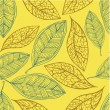 Seamless pattern with leaf — Stockvectorbeeld