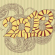 Year of the snake design. — Vettoriali Stock