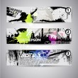 Set of three banners, abstract headers with grunge blots. Grunge — Stock Vector #14084412
