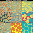 Royalty-Free Stock Obraz wektorowy: Seamless Halloween pattern background with sculls and bones