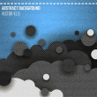 Jeans background with cloud bubble. Vector — 图库矢量图片