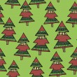 Seamless texture of Christmas wrapping paper — Stok Vektör