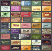 Set colorful Business cards — Stockvector