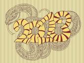 год змеи-дизайн. — Cтоковый вектор