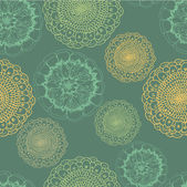 Ornate floral seamless texture, endless pattern with flowers. Se — Stok Vektör