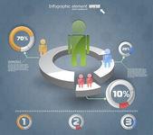 Infografía 3d es. plantilla de diseño web de vector — Vector de stock