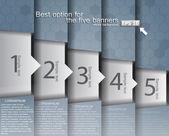 Banner numerati nel design hi-tech — Vettoriale Stock