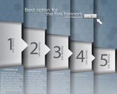 Yüksek teknoloji tasarım numaralandırılmış başlık sayfaları — Stok Vektör