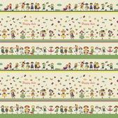 Patrones ornamentales sin fisuras para niños, revistas, sitios web, tex — Vector de stock