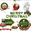 Set of Christmas items — Imagen vectorial