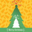Christmas tree retro vector background — Imagens vectoriais em stock