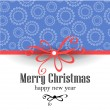 Christmas and New Year Vector greeting card — Stockvectorbeeld