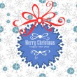 Christmas and New Year Vector greeting card — Image vectorielle