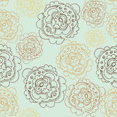 Abstract Elegance Seamless pattern with floral background — Stock Vector